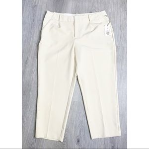 A New Day Ivory Stretch Elastizado Crop Pants